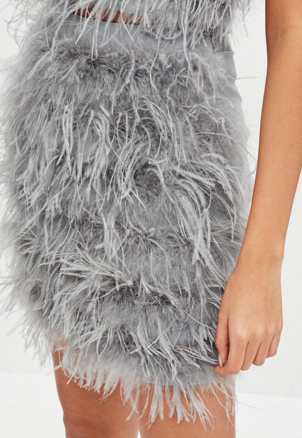 Missguided_grey feather skirt.jpg