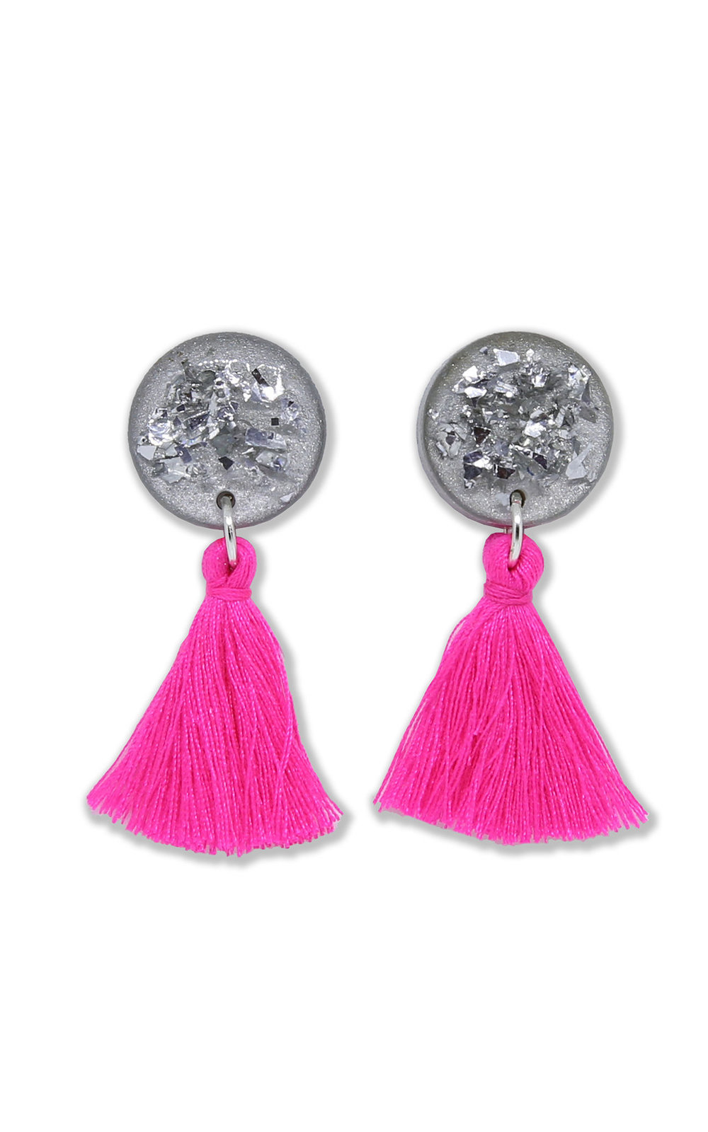 Silk Fred Pink Tassel Earrings.jpg
