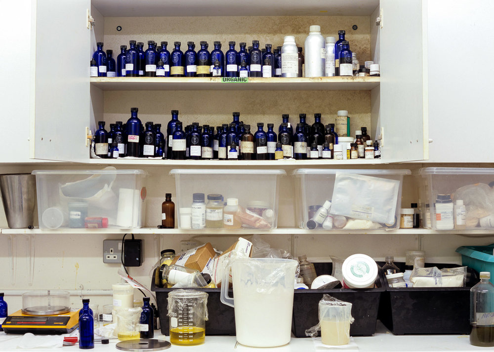Lab shelves at former NYR workshops