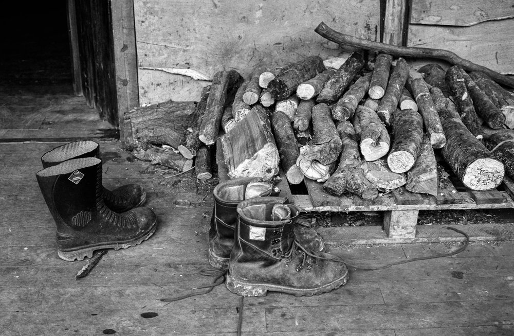 Boots and Logs (Ben Law), 2003