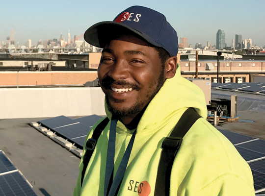Dante Johnson  Install Crew  Dante heard about the job opening at SES through a friend and started working with us in November 2012. Before SES, Dante had worked at the Department of Transportation. Now, as a part of the Install Crew, he not only installs solar panels but he works on the wire team too. Dante's a fast learner who brings good energy and dedication to work everyday.  At age 10, Dante wanted to be a lawyer. His favorite movie is  Love & Basketball,  he likes to sleep in until noon on Sundays, and on rainy days, he loves to sit and listen to the rain.