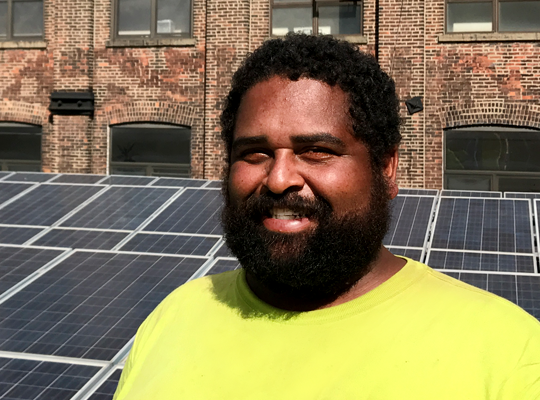 "Charles ""Asol"" Solomon solar construction manager"