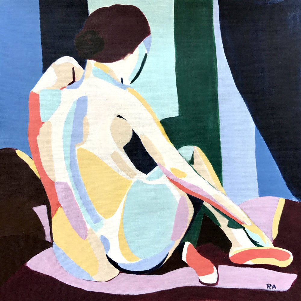 (SOLD) Reclining Nude, 2017