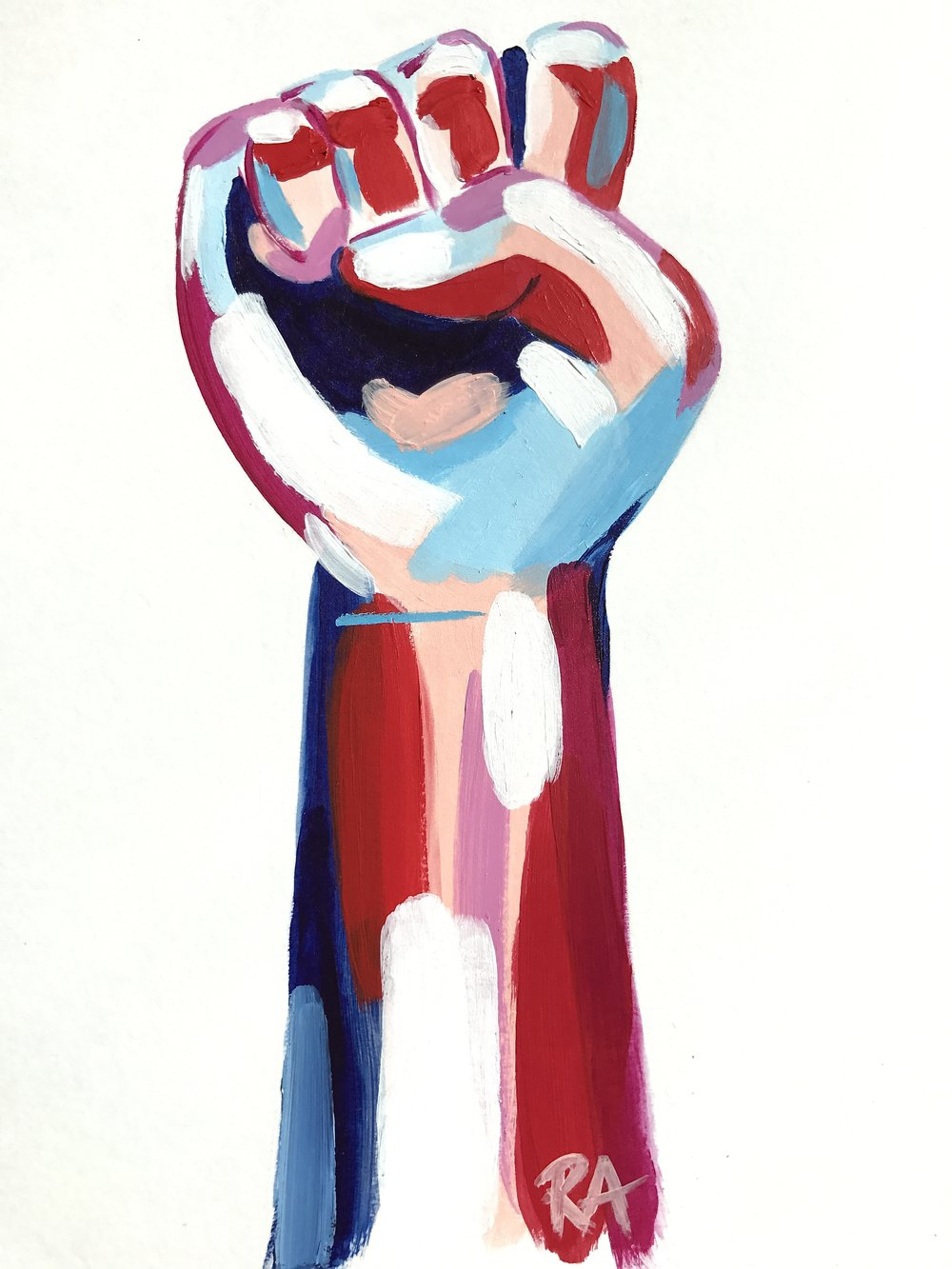(SOLD) Women's March Fist, 2017