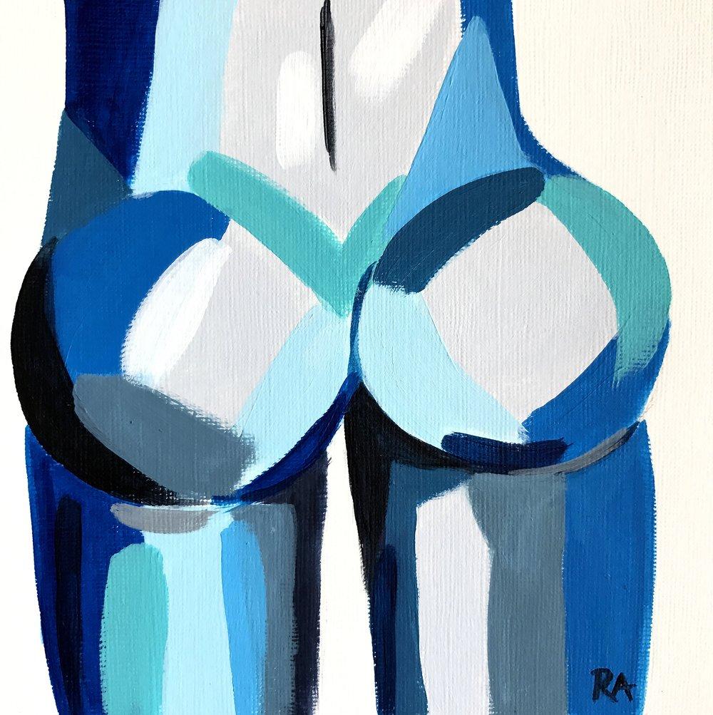 Blue Crush Butt - Nice ass.6x6, $50
