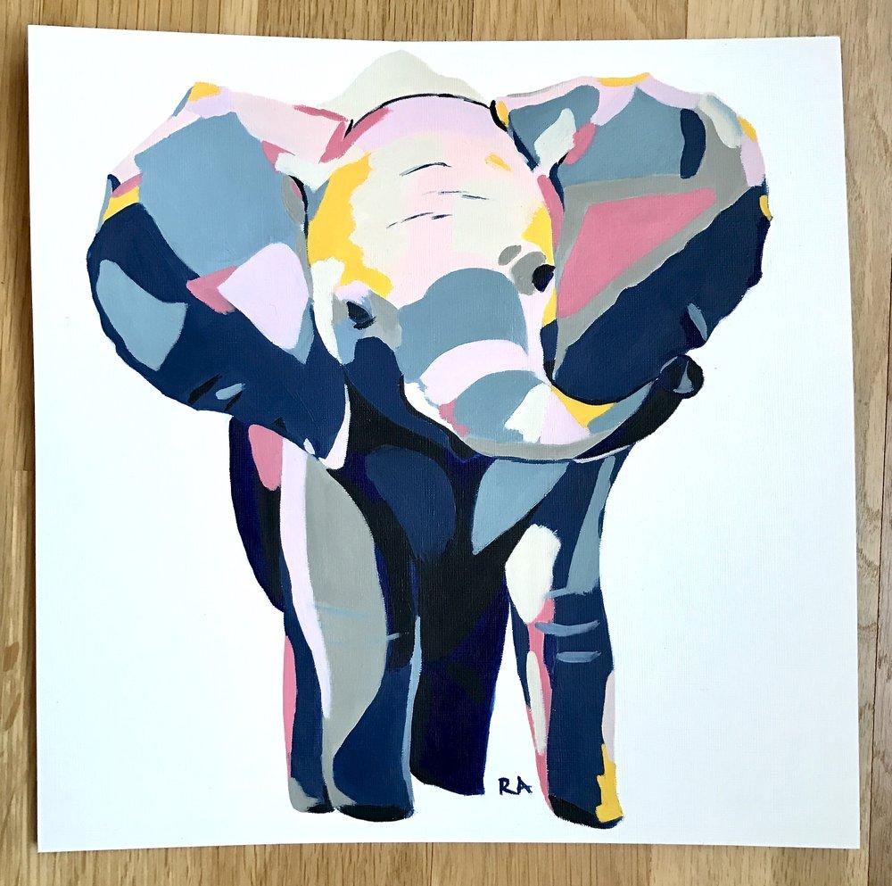 Baby Elephant (Commission)