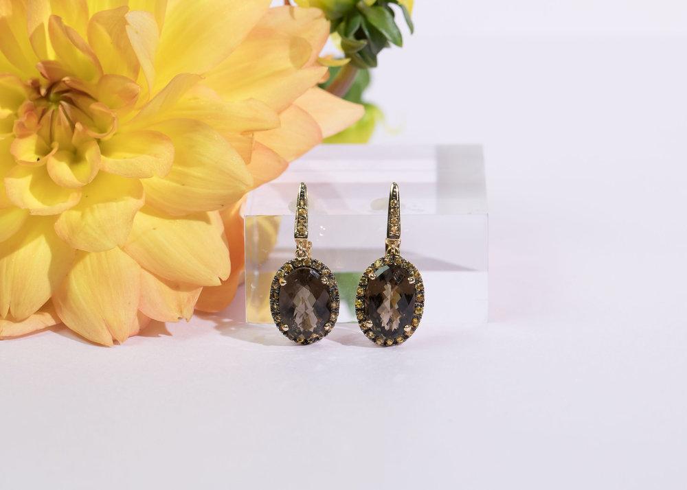 smokey topaz and citrine earrings.jpg