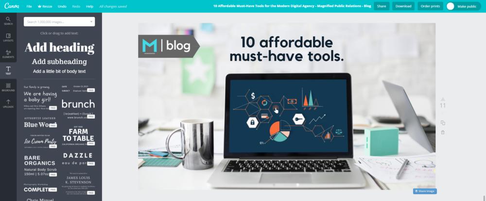 Canva - Magnified Public Relations - Top 10 Tools Blog.PNG