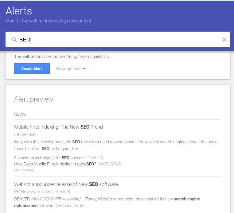 Google Alerts - Magnified Public Relations - Top 10 Tools Blog.PNG