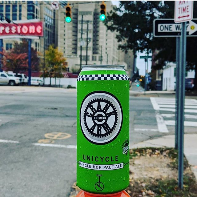 Need help getting through the week? Grab yourself some 16oz cans of @crankarmbrew Unicycle Single Hop Pale Ale!  #trianglebeer #raleigh #craftbeer #paleale #ncbeer