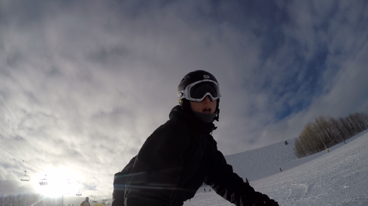 Snowboarding & GoPro, such a multi-tasker