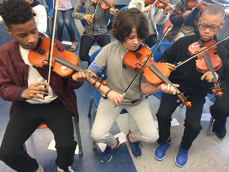 Valor Collegiate Academy - Violin Students 5th Grade
