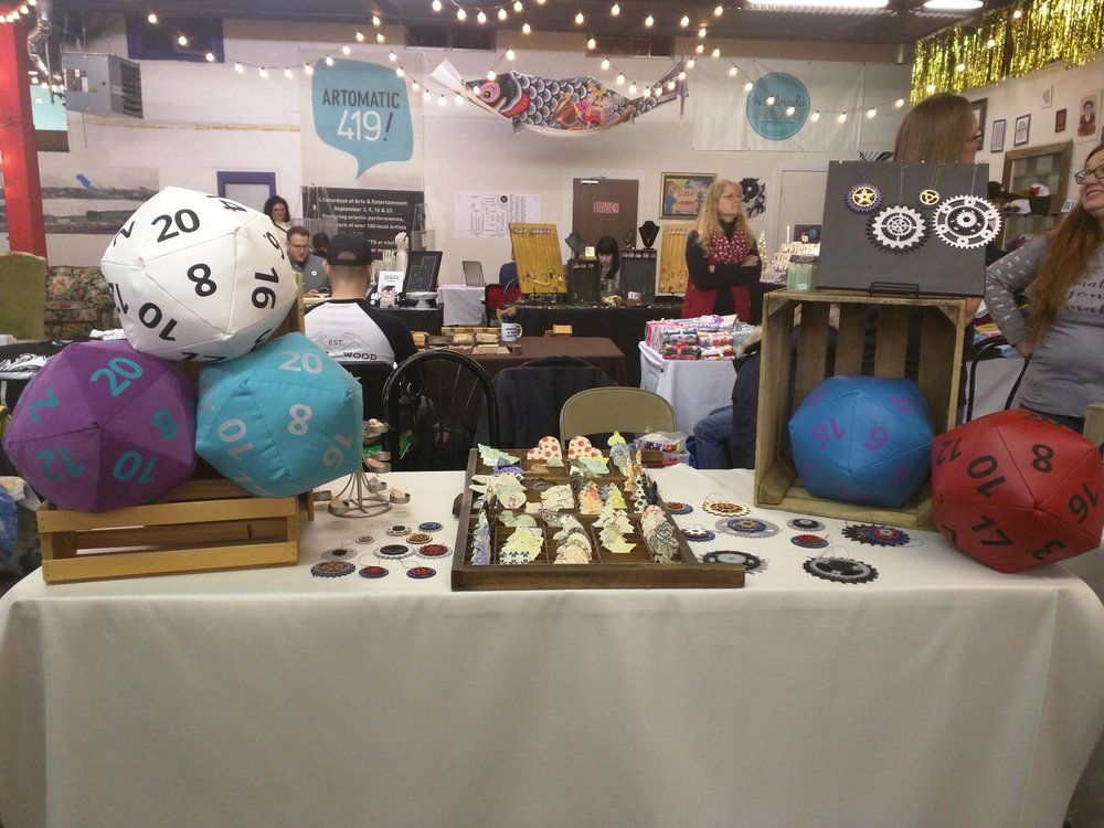 Set up at the Handmade Toledo one day show, December 2017