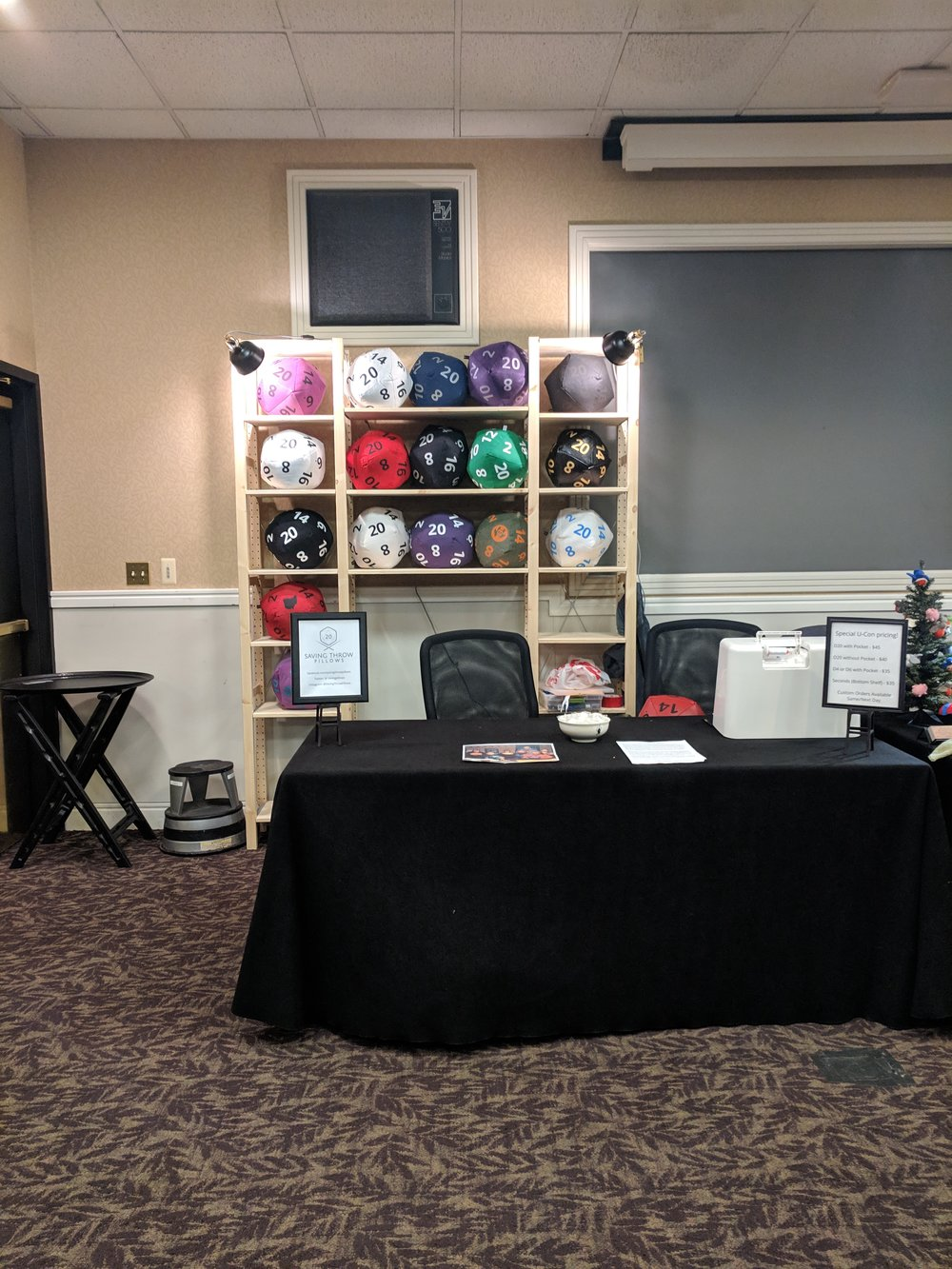 My booth at UCon in Ypsilanti Michigan, 2018