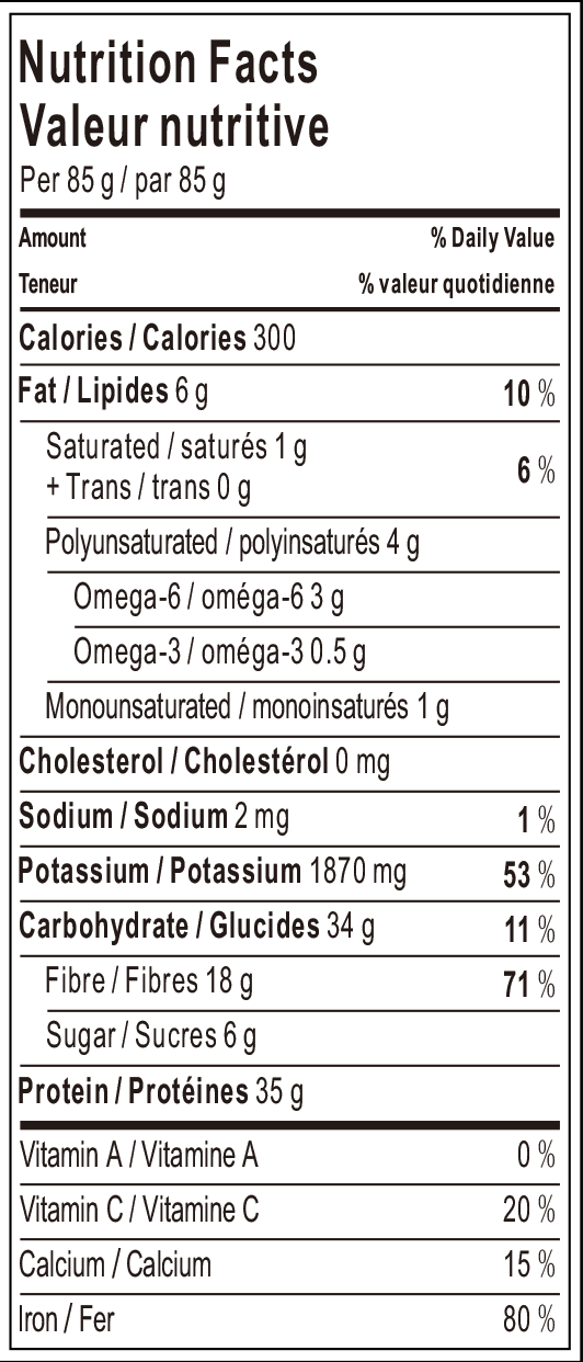 20180320 Soybean Spaghetti Nutrition Facts.png