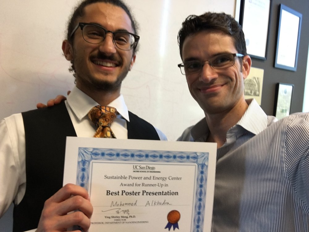 mohammad alkhadra – runner-up for best poster at the sustainable power and energy summit.