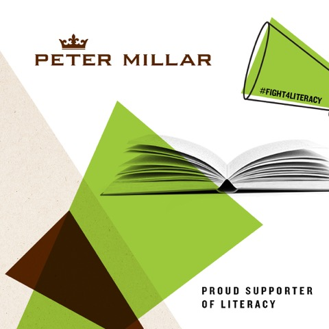 Co-Branded Peter Millar and Coaching for Literacy logo.