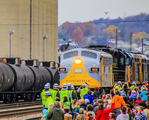The Santa Train Arrives in Kingsport - November 18, 2017 -- Photo by Dale R. Carlson