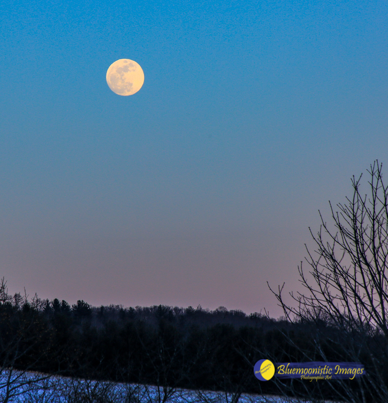 Super Blue Blood Moon Rising over Jefferson NC - January 30, 2018   Photo by Dale R. Carlson