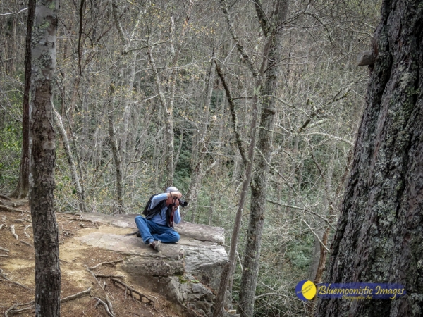 Bluemoonistic Images  Photographer (Dale R. Carlson) at work on top of Backbone Tunnel
