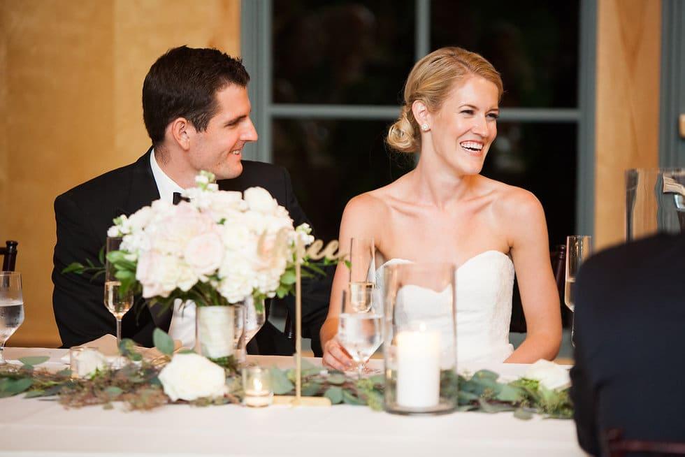 Bride and Groom Headtable