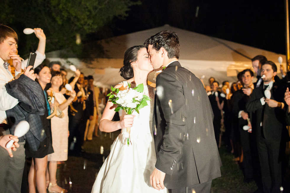 Tent Wedding Exit