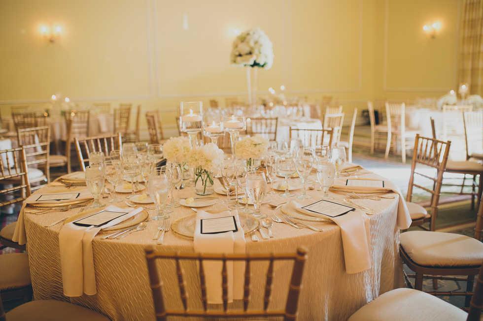 Ivory wedding decor