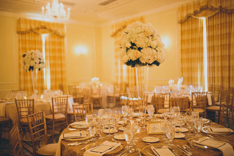 Reception Decor - Hill Ballroom