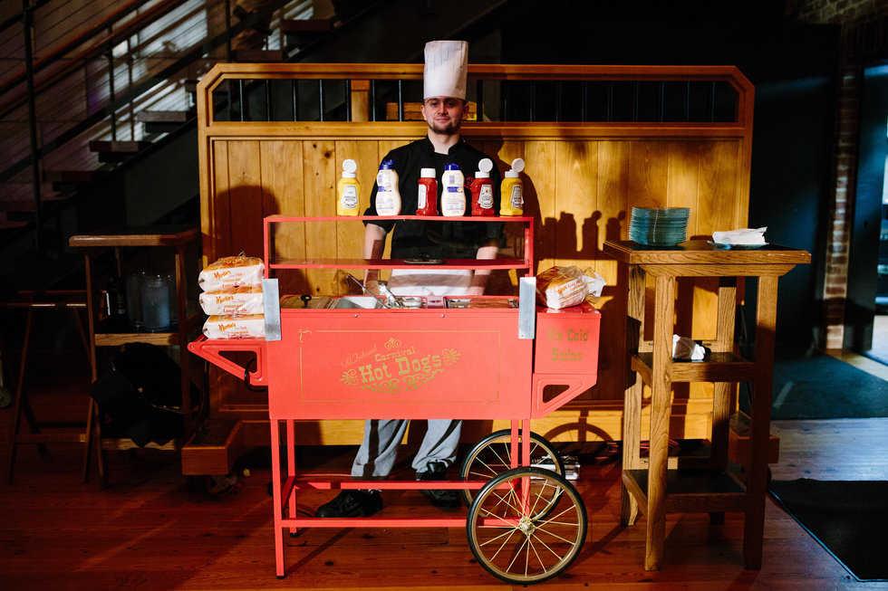 wedding hot dog cart