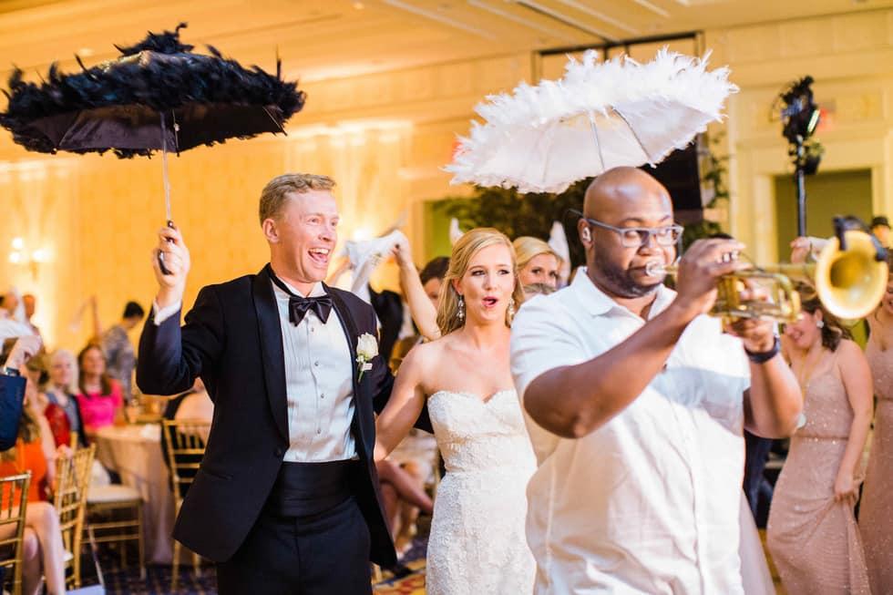 New Orleans Infused Wedding Duke Chapel Washington Duke Inn Nc