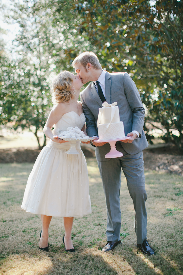 Southern-weddings-short-wedding-gown1