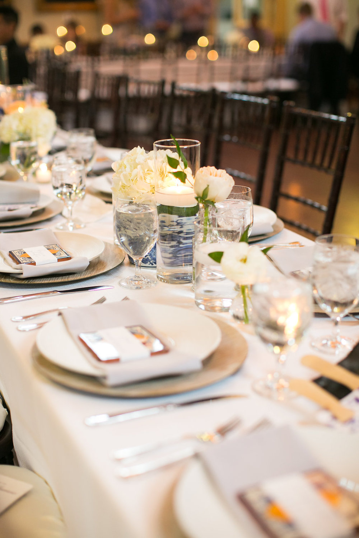 Wedding Reception Place Setting at Duke Gardens Doris Duke Center