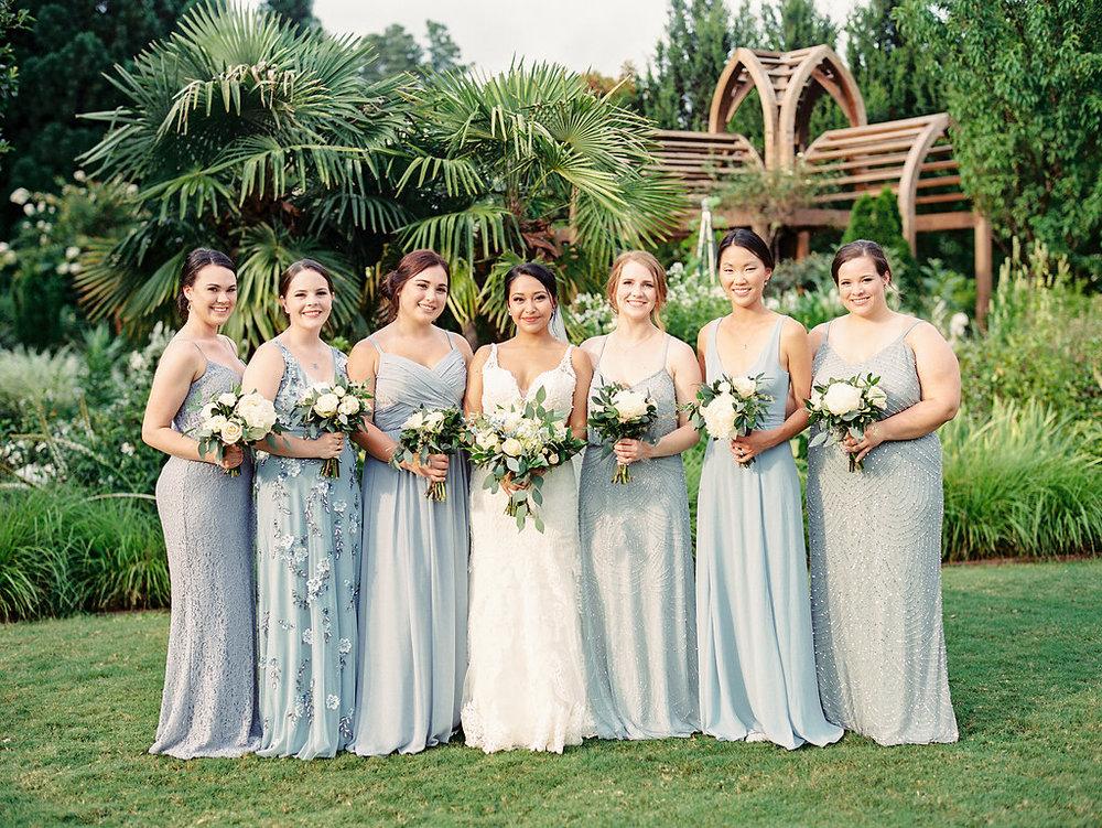 Wedding party at Sarah P. Duke Gardens, Duke University