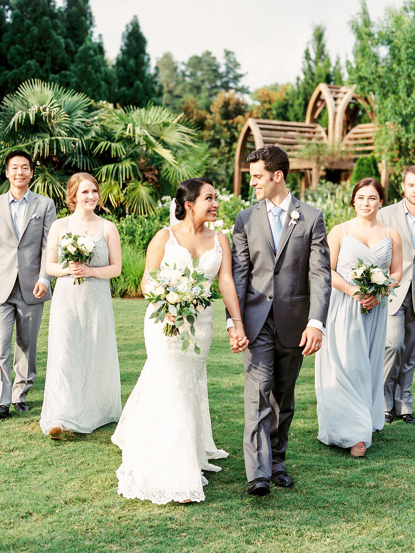 Wedding party at Duke Gardens wedding