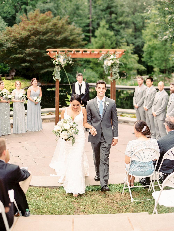 Wedding ceremony at Sarah P. Duke Gardens