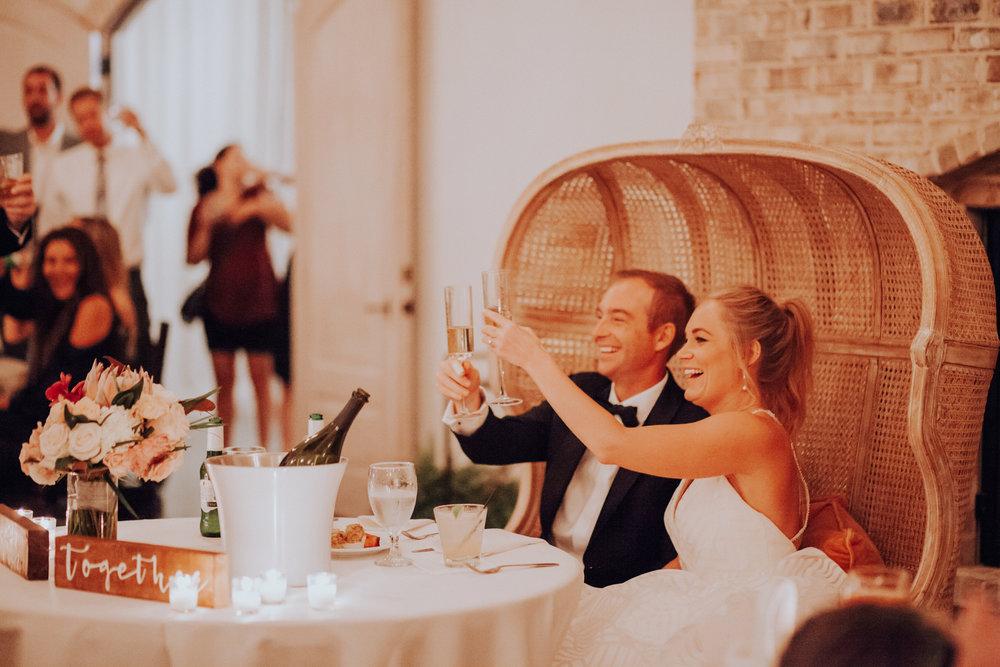 Bohemian Wrightsville Manor wedding reception seating