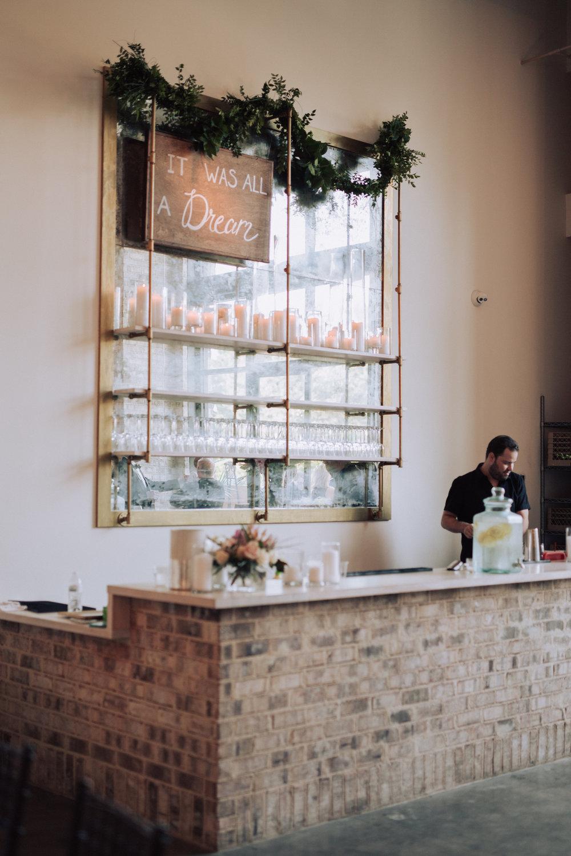 Wedding reception bar at Wrightsville Manor