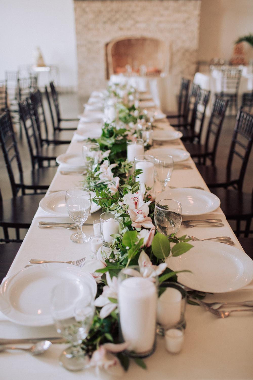 Wrightsville Manor wedding reception table