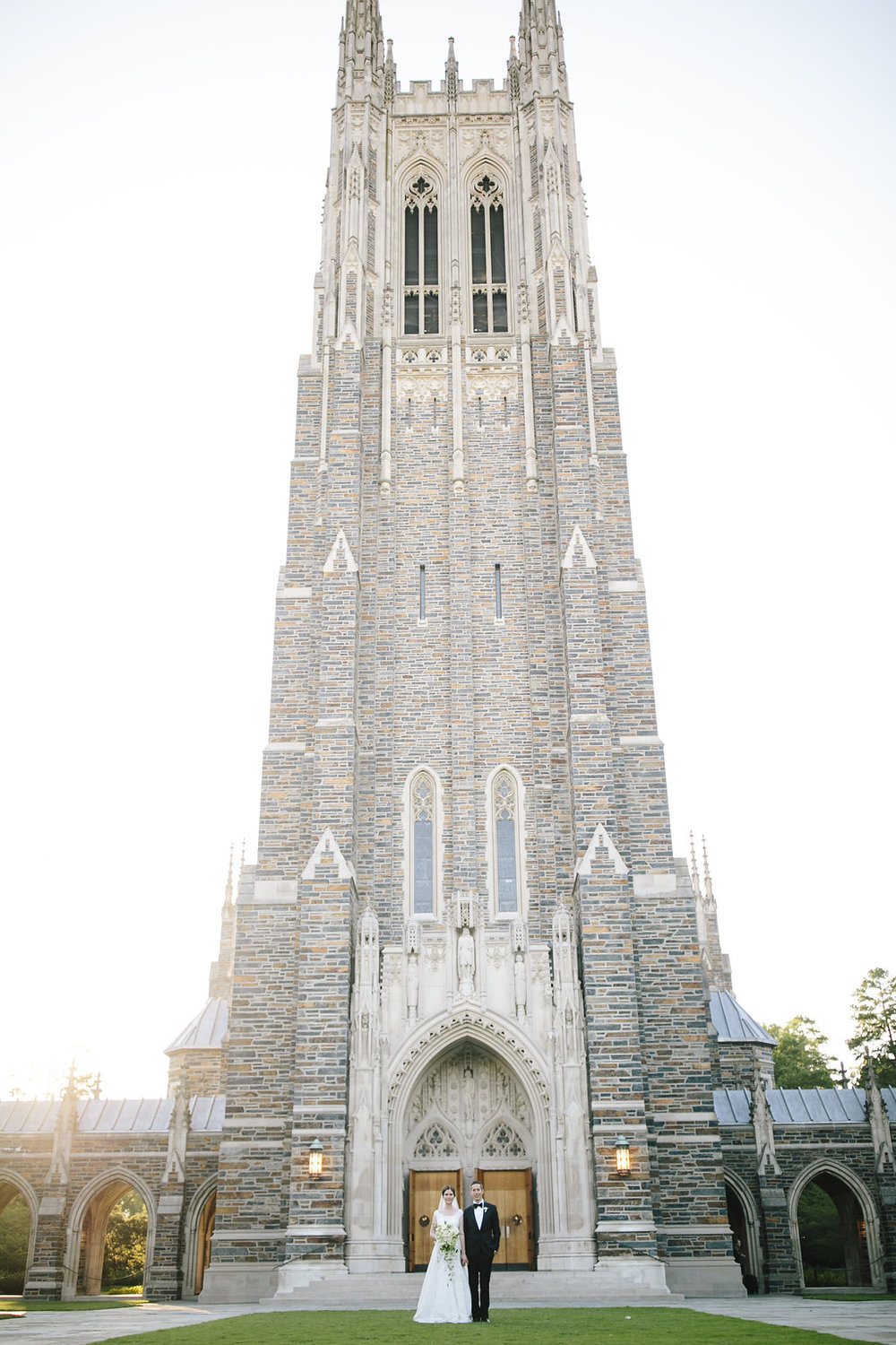Duke Chapel wedding on Duke University campus