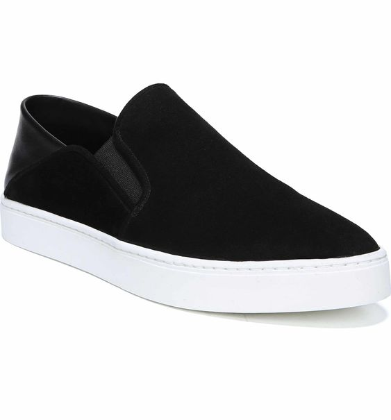 Vince Slip-On Sneaker - Fashion meets function. This sneaker is perfect for your friend or family member that is on the move, but wants to look chic. Comfortable, cute, easy, fav. They come in a range of colors and materials too! Carrington has a pair and these black suede lovelies are on the top of her Christmas list this year.