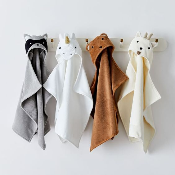 Animal Bath Wrap - We obviously had to include this item from West Elm, because who doesn't want to be a unicorn when they are little?! These adorable bath wraps will be a big hit for your little loved one. They are also monogrammable!