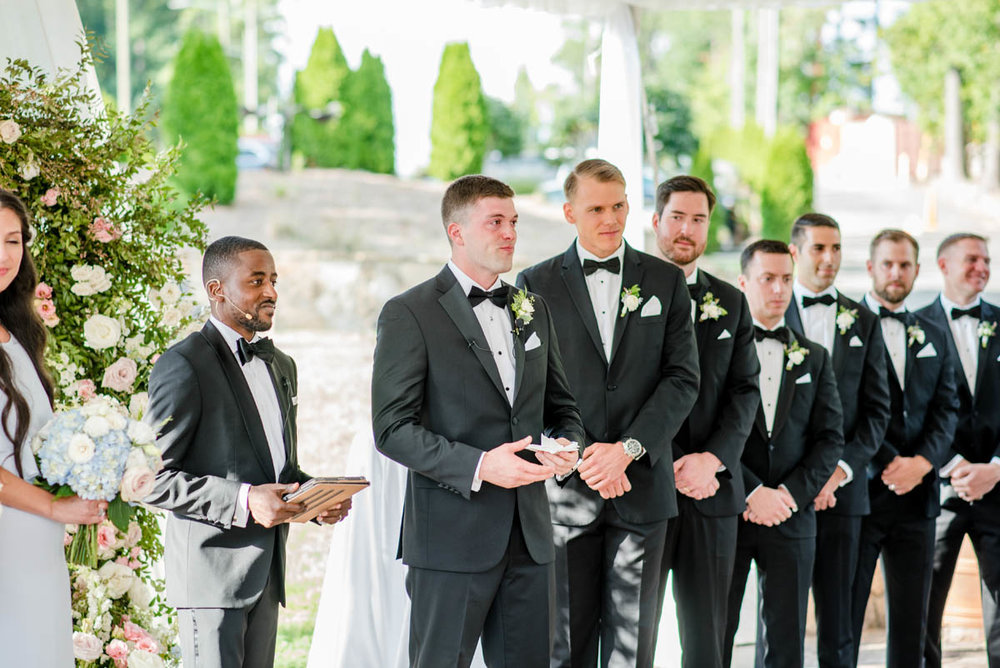 Groomsmen at Angus Barn wedding