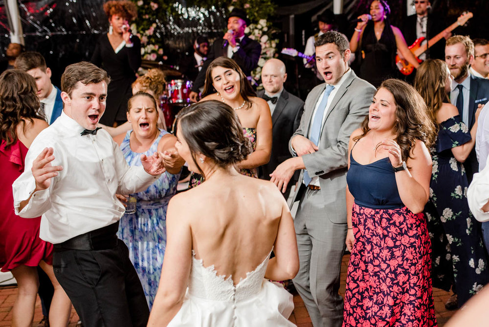Dancing at Angus Barn wedding