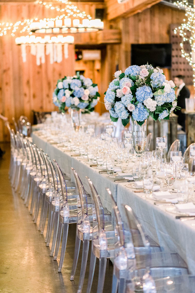 Long banquet table at Angus Barn Pavilion
