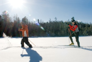 Cross-country skiing and snowshoe