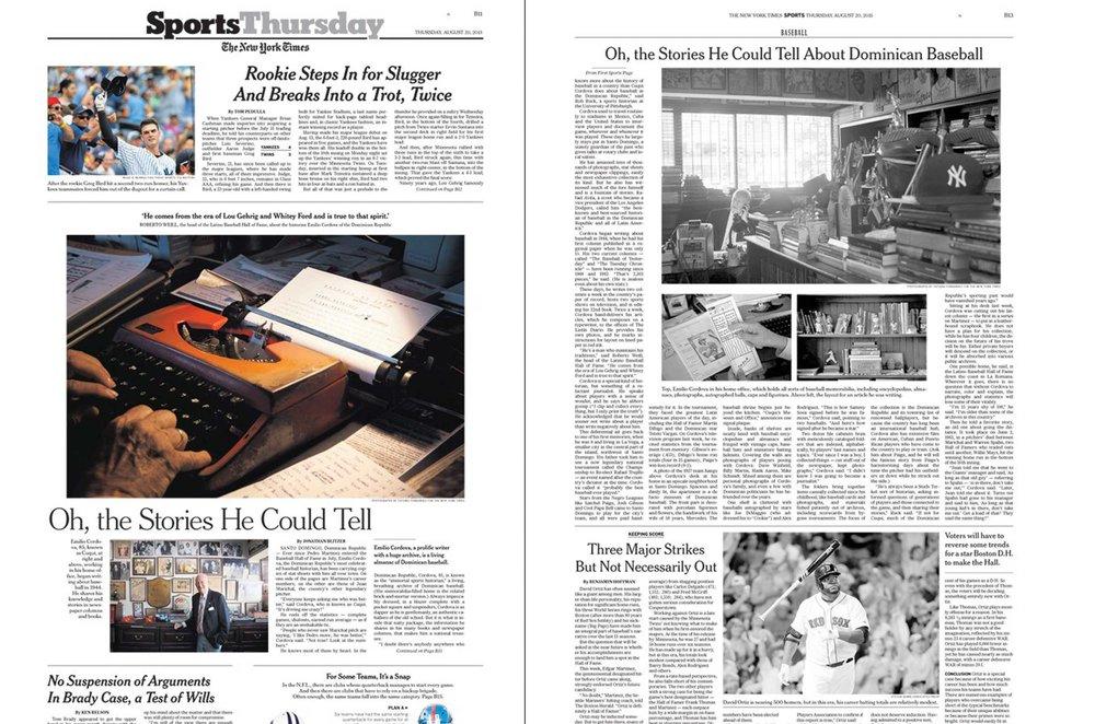 NYT Dominican Baseball Historian
