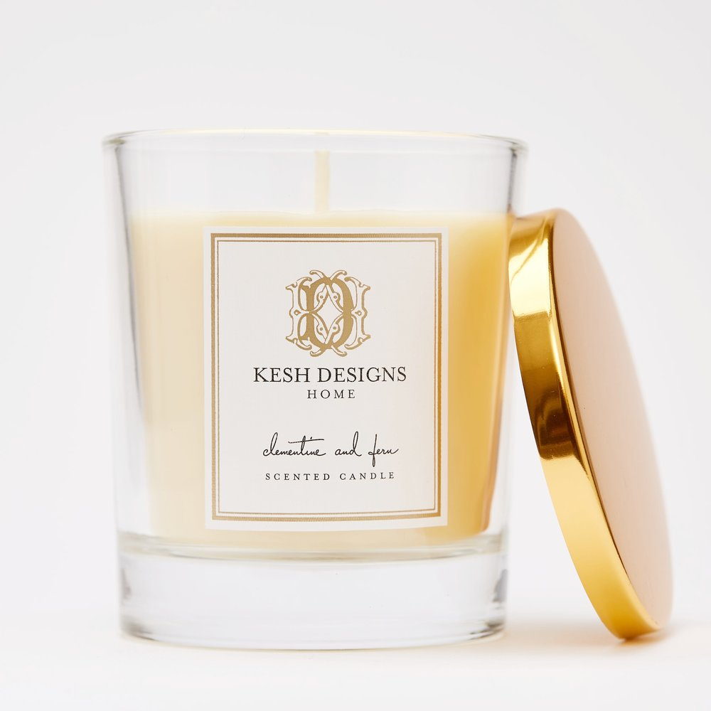 clementine fern scented candle kesh designs home