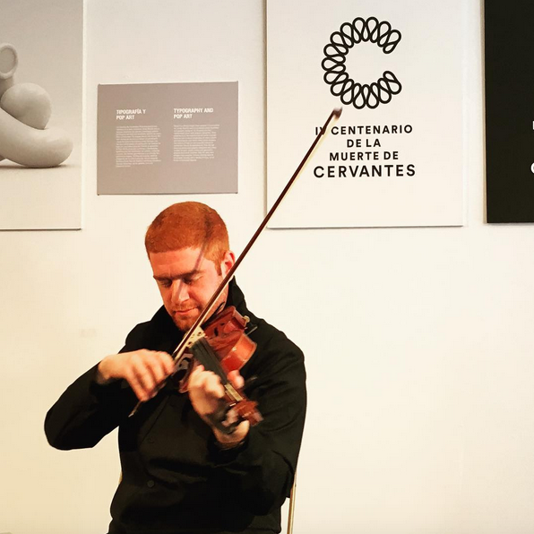 Layth Sidiq at the Instituto Cervantes