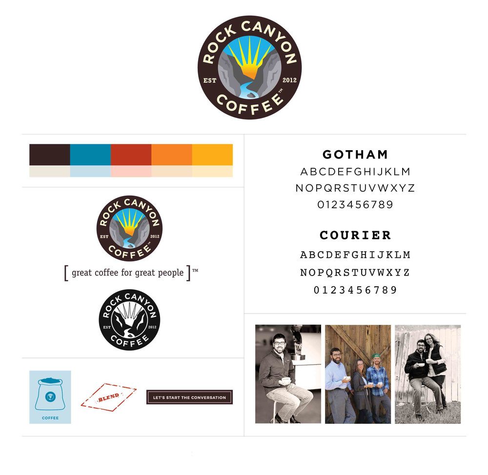Rock Canyon Brand board by The Qurious Effect brand and Squarespace web designer