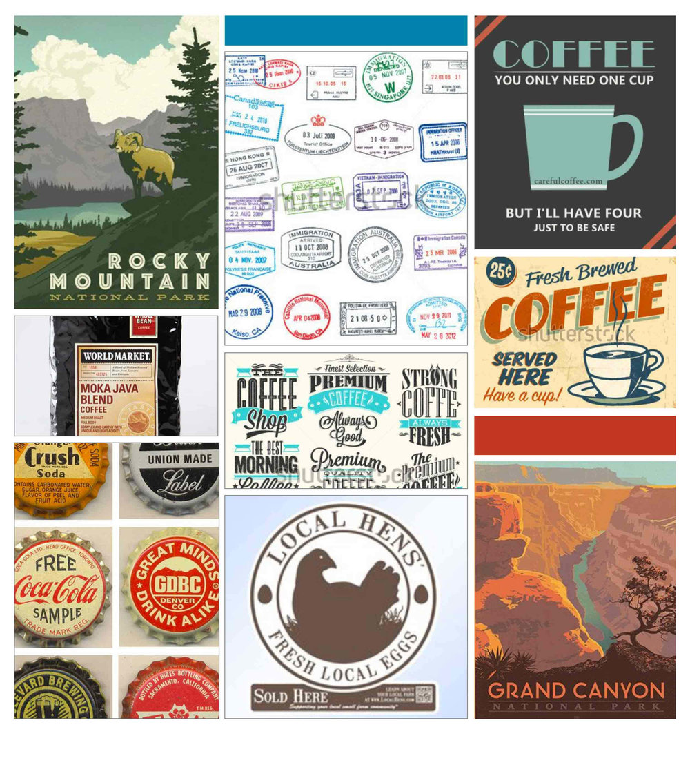 Rock Canyon Inspiration Board by The Qurious Effect, offering brand and squarespace web design